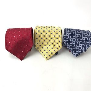 Tommy Hilfiger Lot of 3 All Silk Ties USA Made VTG